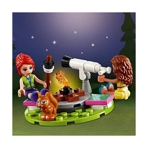 LEGO Friends - Glamping en la Naturaleza, Set de Construcción de Aventuras con Tienda de Campaña de Juguete y Bicicleta…