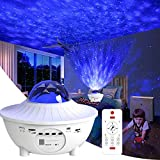 RYBPVC Night Light for Kids, Star Projector w/LED Nebula Cloud for Bedroom/Game Rooms/Home Theatre/Night Light Ambiance with Bluetooth Speaker, Voice Control& Remote Control (White)