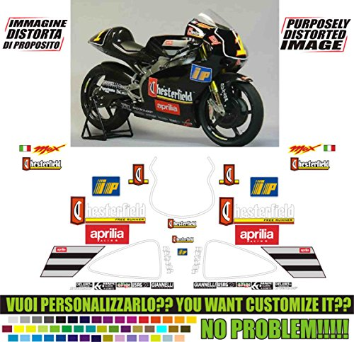 Emanuel & Co Kit adesivi Decal Stickers Aprilia RS 250 1998 Chesterfield GP Replica (Ability to Customize The Colors)