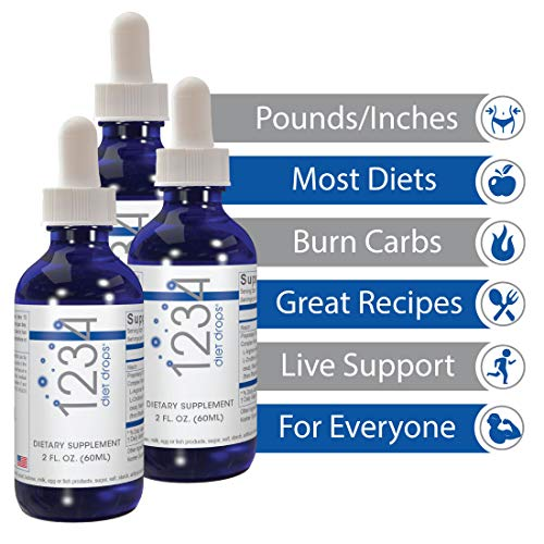 Creative Bioscience 1234 Diet Drops (3 Pack) - Weight Loss Drops - Original Amino Complex - Keto Diet - Intermitted Fasting - 1234 Diet Plan, 2 Fl Oz (3 Pack) 4