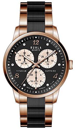 Uhr - Ruhla-Classic 28141 - Titan - Schwarz/rosé