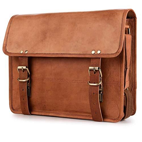 Berliner Bags Umhängetasche York M aus Leder Ledertasche Herren Damen Braun Klein