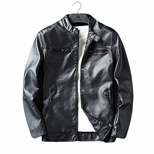 ShiSei(しせい) レザージャケット レザーコート puジャケット メンズ 裏起毛 バイクジャケット バイク用レザージャケット 春秋用 Jacket 4color