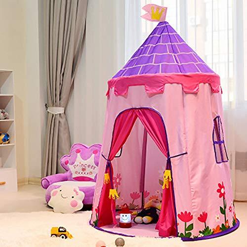 CHHBOXCHH Zelt Kleinkind Tipi/Zelt Outdoor Zelt/Kinderzimmer Indianerzelt Baby Prinzessinnenschloss Geschenk FüR Kinder Schön dekoriert Einfach zu lagern,Pink