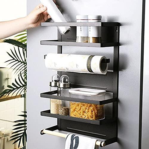 Küche Kühlschrank Side Magnetic Organizer Rack Regal Lagerhalter mit Handtuchhaken
