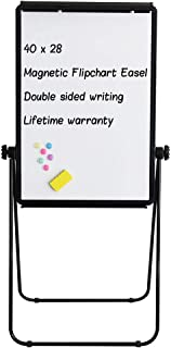 Stand White Board - 40x28 Magnetic Dry Erase Board w/Flipchart Pad Double Sided Easel Board Portable Whiteboard