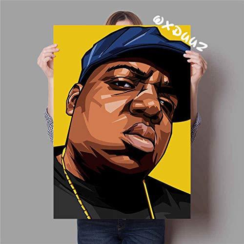 No frame De bekende Amerikaanse rapper hiphop The Notorious BIG family wanddecoratie poster hoge kwaliteit canvas schilderij 50x75cm