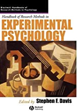 Handbook of Research Methods in Experimental Psychology (Blackwell Handbooks of Research Methods in Psychology 3)
