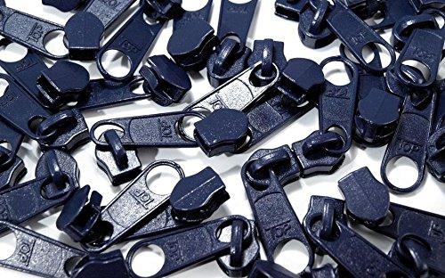Schnoschi 15 Zipper dunkelblau passend für endlos Reißverschluss mit 5 mm Laufschiene