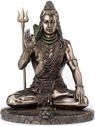 Veronese Design Señor Shiva en Meditación Pose Estatua Escultura - Dios hindú y destructor del mal