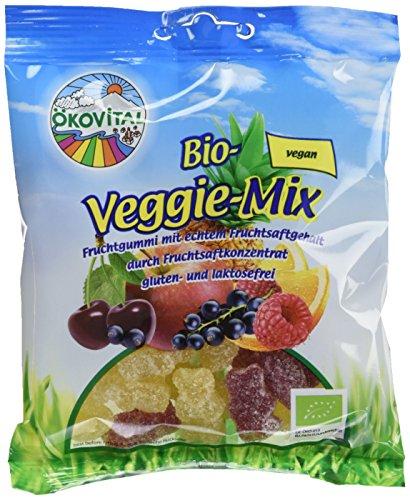 Ökovital Bio-Fruchtgummi Veggie-Mix, vegan, glutenfrei, laktosefrei, 12er Pack (12 x 100 g)
