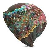 Kaswtrb Gorro de Lana de Moda de piña con Fondo de Aceite para Unisex, Lienzo de Pintura al óleo, Gorro de Reloj Rosa con Textura Colorida