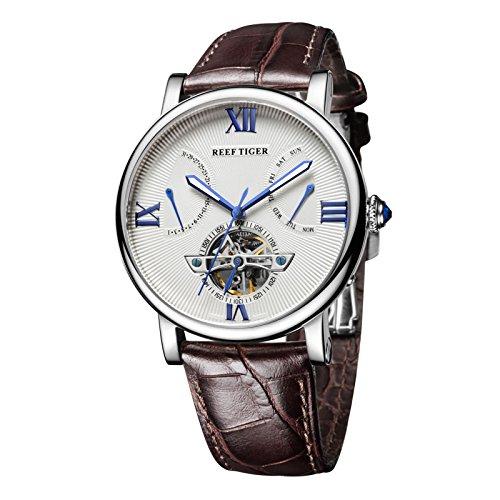 REEF TIGER Herren Uhr Analog Automatik mit Leder Armband RGA191-YWS1