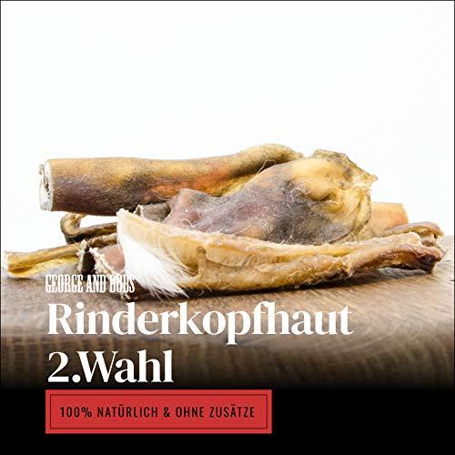 George & Bobs Rinderkopfhaut 2.Wahl - 1000g - ca.12cm Stücke - Aussortierte Ware - 2Wahl Aber 1.Qualität
