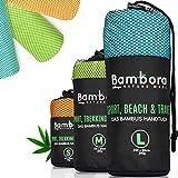 Bambora Bambus Handtuch Schnelltrocknend Reisehandtuch - Ultra Leichtes Mikrofaser Handtücher