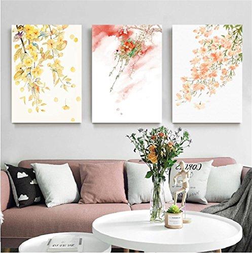 Mr.Zhang's Art Home Painting Style Japonais Salon Peinture canapé Fond Peinture Murale Restaurant Chambre Triple peintures sans Cadre