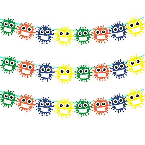 Quarantine Birthday Garland Quarantine Party Decorations Quarantine Banners Social Distancing Decor Germ Banner Germ Decoration(2Pack)