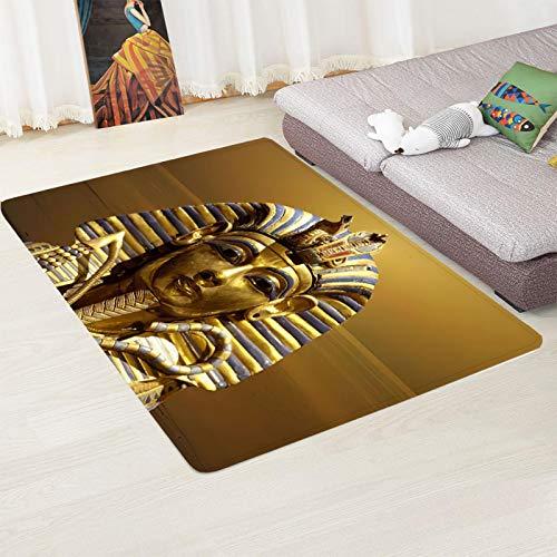 LGXINGLIyidian Alfombra Escultura Egipcia Creativa Alfombra Suave Antideslizante De Decoración del Hogar...
