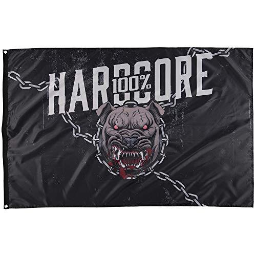 100% Hardcore Banner Wraith, Gabber Dog Print Flagge Fahne Deko