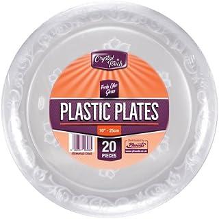Platos desechables de plástico transparente, platos duros