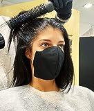 50pz - Mascherine adesive senza elastici - Colore nero - MADE IN ITALY