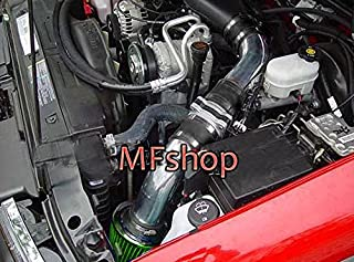 1996 1997 1998 1999 2000 2001 2002 2003 2004 GMC Sonoma 4.3L V6 Pickup Cold Air Intake Filter Kit System (Black Accessories with Green Filter)