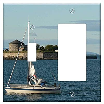 Wall Plate Cover - Watercraft Vehicle Sailboat Transportation Water