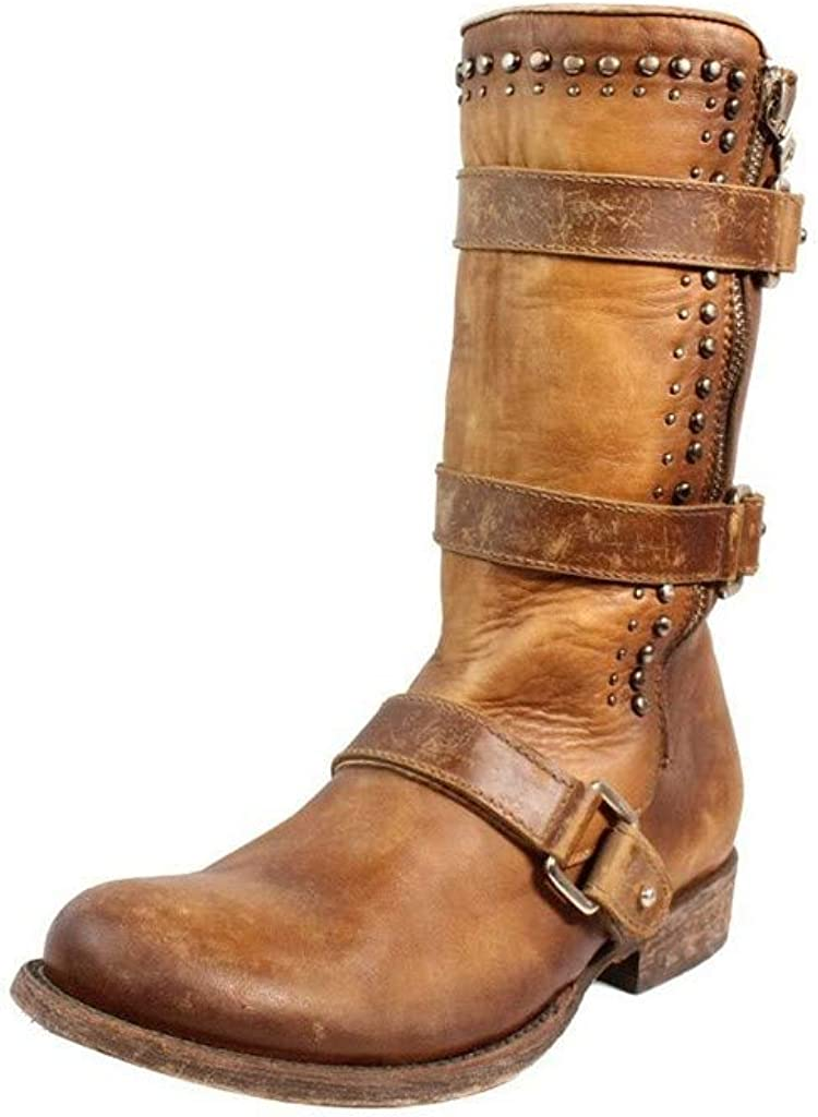 CORRAL Women's Studded Harness Strap Boot - C2966
