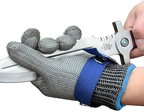 Schwer Schnittfester Handschuh aus Edelstahl mit Metalldraht, strapazierfähig, rostfrei, zuverlässig, Schneidehandschuh, neuestes Material