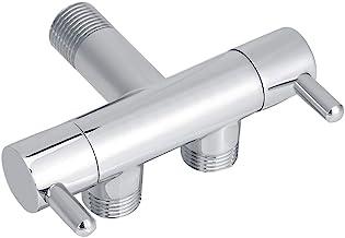 Fdit duschcharm dubbelriktad, med mässingsskiva, duschcharm, universal, vattenfördelningssystem för toalett, pistol, tvätt...
