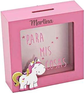 Curia Grabador Hucha de Unicornio en Madera Rosa,