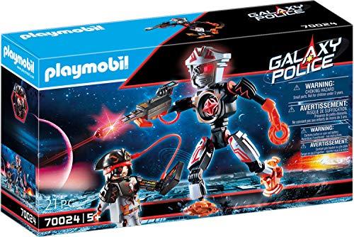 PLAYMOBIL Galaxy Police 70024 Piratas Galácticos Robot, con Efectos de Luz, A Partir de 5 Años