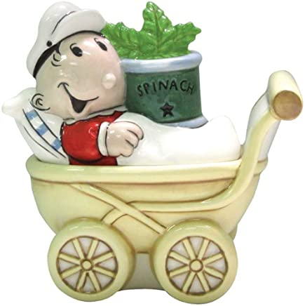 0b594ae2f8 Westland Giftware Popeye Magnetic Sweet Pea and Stroller Salt and Pepper  Shaker Set, 3-