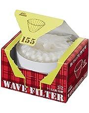 Kalita Filtros de Onda Kwf-155 Paquete de 50 Hoja Blanca Tipo Conveniente de la Caja para Sacar y almacenar 22211 (Japón Importación) (155 (1 a 2 Personas))
