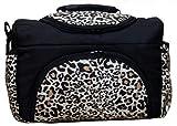 Wickeltasche PIA Baby-Joy XXL XXXL Übergroß Windeltasche Pflegetasche Babytasche Tragetasche TP-32 Schwarz LEO
