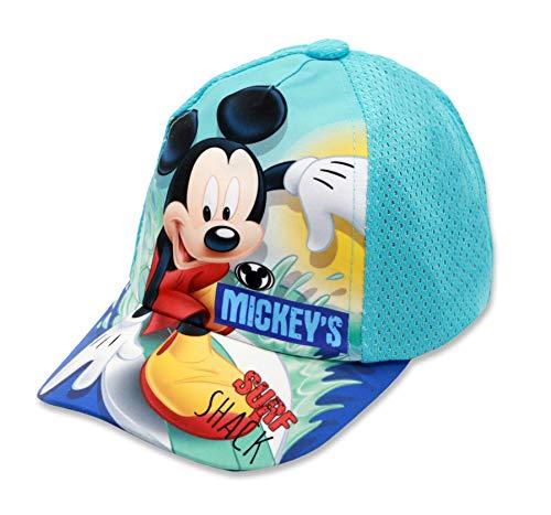 Disney Micky Maus Jungen Cap Kappe Schirmmütze (Hellblau, 52)