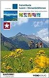 Freizeitkarte Luzern - Vierwaldstättersee: Wandern, Velofahren, Biken, Skaten und Kanufahren