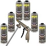 Steinschlagschutz Unterbodenschutz überlackierbar 6kg SCHWARZ & 1Spritzpistole