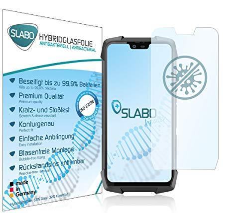 Slabo Antibacteriano Película de Vidrio híbrido para Blackview BV9700 Pro Protectora Protector de Pantalla protección Elimina hasta el 99,9% de Las bacterias según ISO 22196 - Transparente
