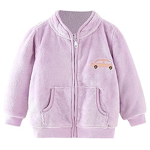YQSR - Abrigo de franela para bebé de manga larga para niño, niña, con estampado de franela, multicolor