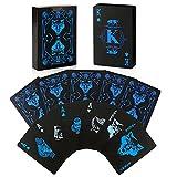 joyoldelf Naipes de póker Impermeables patrón de Lobo, Tarjetas de plástico PVC Cool con Caja de Regalo, Genial para Magia, Cardistry y Fiesta