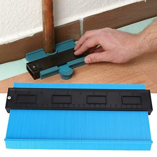 Zimmermann Werkzeug, 10in ABS Kunststoff unregelmäßige Formen messen Kontur Vervielfältigung Messgerät Holzbearbeitungswerkzeug (Farbe : Blau)