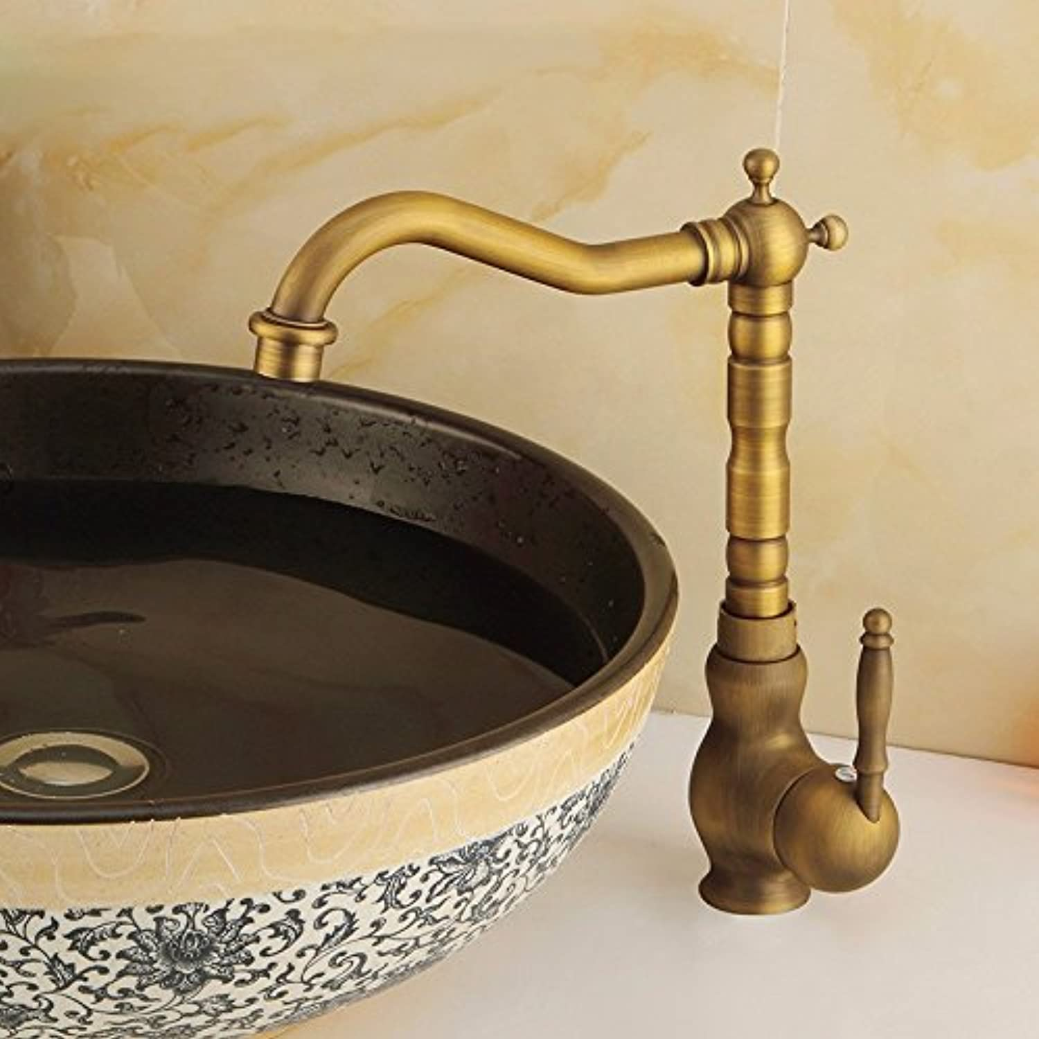MDRW-Bathroom Accessories Basin Faucet All Copper Hot And Cold Water Tap Mixed Household Duplex Basin Owan Taps Water Heating Metal Kitchen Tap