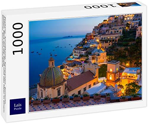 Lais Puzzle Positano, Costiera Amalfitana, Campania, Sorrento, Italia. Vista della Città e del Mare in Un Tramonto Estivo 1000 Pezzi