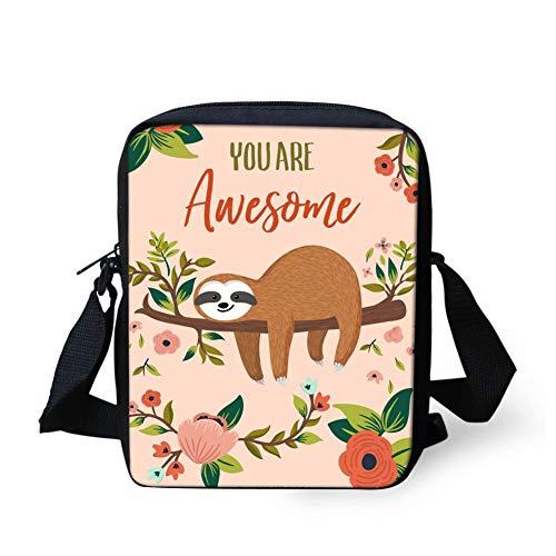 Woisttop Umhängetasche mit Tiermotiv, leger, Mini-Handtasche für Damen und Kinder, für Reisen und Schule