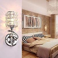 壁取り付け用燭台ライトモダンなミニマリストのダイニングホールの壁のクリスタルランプ通路ライトロマンチックな寝室のベッドサイドの壁ランプ(26 cm * 10 cm)、円筒形の黄金のセクション