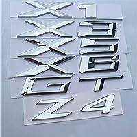 BMW X1 X3 X4 X5 X6 GT Z4、文字番号エンブレムトランクモデル名バッジ車のスタイリング補修ステッカークロームシルバーマット