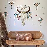 ufengke Pegatinas de Pared Cuerno de Toro Wild Free Letras Vinilos Adhesivas Pared Pluma Triángulo Decorativos para Dormitorio Sala de Estar Oficina