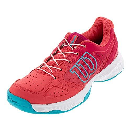 Wilson KAOS JUNIOR QL Tennis Shoes, Paradise Pink/White/Peacock Blue, 2.5