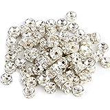 Wadoy 100X Metallperlen Zwischenring Zwischenperlen Perle 6mm